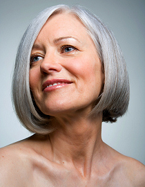 Entfärben graues Haar
